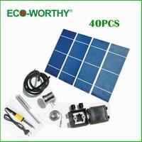 ECO-WORTHY High Efficiency Solar Cell 40pcs Grade A Solar Cell DIY 80w Solar Panel