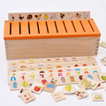 Montessori Early Kids Toys Educational Wooden Creature 3d Puzzles for Children Intelligence Learning Puzzle Brinquedos W062