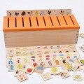 Montessori Early niños juguetes juguetes educativos de madera criatura 3d Puzzles para los niños de aprendizaje de inteligencia rompecabezas Brinquedos W062