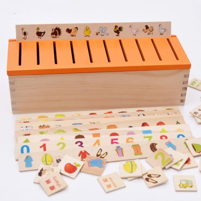 Montessori infantil crianças Brinquedos educativos de madeira 3d Puzzles para crianças Brinquedos de inteligência criatura W062