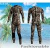 BLUE DIVE 3MM Winter Diving Suit Men Long Sleeved Camo Airtight Warm Jellyfish Snorkeling Suit Scuba