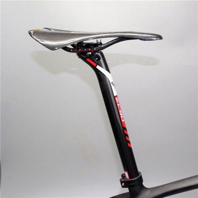 2019 Ultralight Full carbon fiber bicycle seatpost EC90 seat tube MTB seatpost Road bike seat tube seat post 27.2 30.8 31.6MM