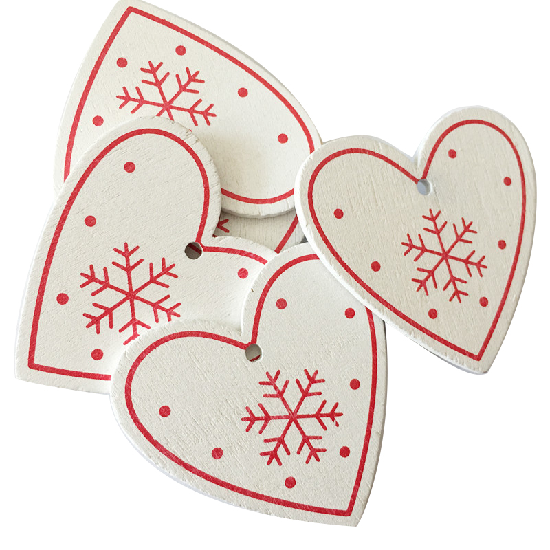 New Year 2020 Christmas Snowflake Wooden Pendant Xmas Tree Decorations for Home Wood Hanging Crafts Navidad 2019 Noel Natal Deco 25