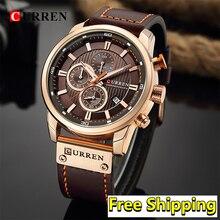 Curren Watches Men 2019 Classic Military Male Wristwatch Mens Leather Belt Sport Waterproof Quartz Chronograph Watch Man 2019