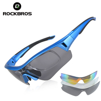 RockBros Polarized UV400 Sport Sunglasses Professional Cycling Riding 3 Lens Lenses Eyewear Bicycle Bike Outdoor Ocular