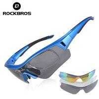 RockBros Polarized UV400 Sport Sunglasses Professional Cycling Riding 3 Lens Lenses Eyewear Bicycle Bike Outdoor Ocular