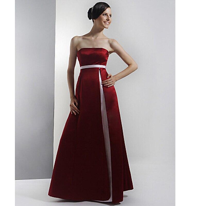 Burgundy And White Bridesmaid Dresses