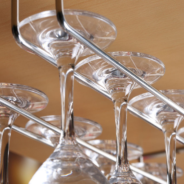 Mode bar vin rouge gobelet verre de suspension porte - Porte verre suspendu bar ...