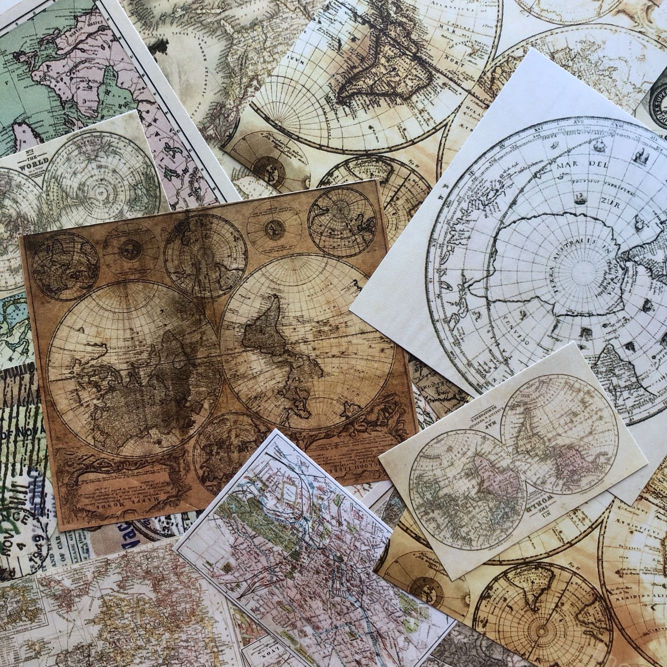 25pcs/pack Retro Earth Map Vintage Kraft Paper Stationery Material Paper Set For Scrapbooking DIY Projects/Photo Journal