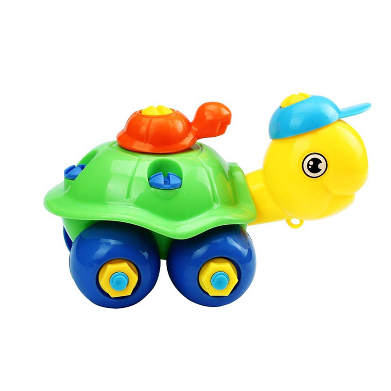 Turtle Toys For Boys : Turtle disassembly car design educational toys for