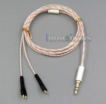 LN005330 7N OCC + Argent Mixte Casque Câble Pour Sennheiser HD25sp HD265 HD535 HD222 HD224 HD230 HD250 Lin
