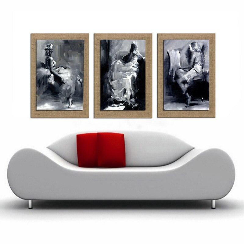 Peinture sur toile de Peinture À L'huile Fille Cuadros Mur Photos Peinture art Mur Décor Décoratif Photos