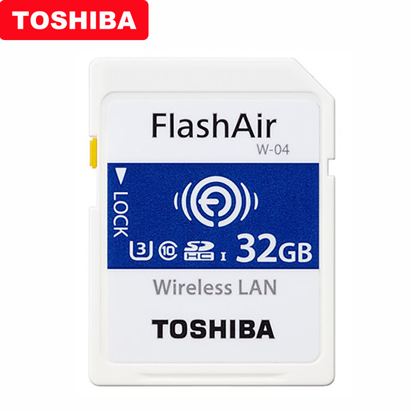 Image 2 - TOSHIBA Flash Air W 04 Memory Card 32GB 64GB WIFI SD Card 90MB/s Wireless LAN Memory Card Tarjeta sd WIFI Carte SD For Camera-in Memory Cards from Computer & Office