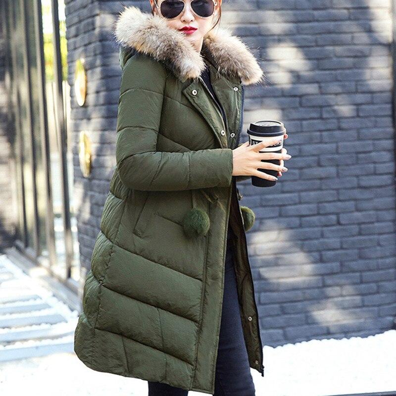 Épaissir green Hiver Rembourré De Long Moyen Pink Veste Taille Mince Femmes Section Femme A358 Grande Mode Coton gray black wTwqC