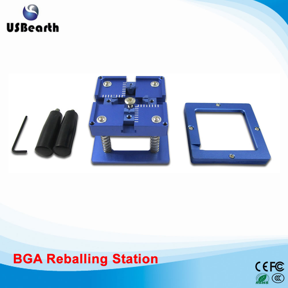 BGA Reballing Station with Handle For 90mm x 90mm Stencils Holder, Template Holder Jig 90 90mm reballing station 323pcs bga stencils for ps3 xbox360 psp wii notebook laptop