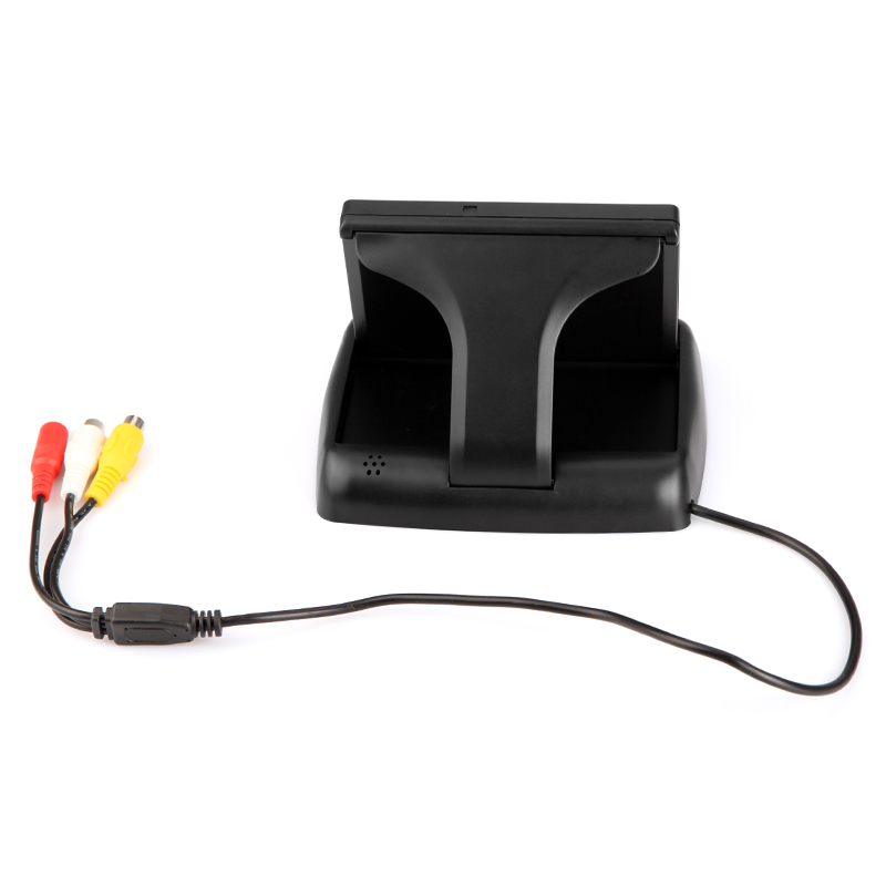 lowest price BYNCG 4 3 Inch TFT LCD Car Monitor Foldable Monitor Display Reverse Camera Parking System for Car Rearview Monitors NTSC