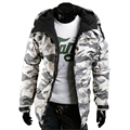 Autumn Winter Thin Hoody Men Camouflage Pattern Jackets Military Fashion Tactical Cotton Fleece Coat Slim Fit Overcoat