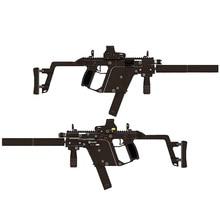купить 1:1 KRISS Super V Assemble 3D Cardboard Rifle Manual model Brainstorming DIY Paper Model Building of Toys & Hobbies дешево
