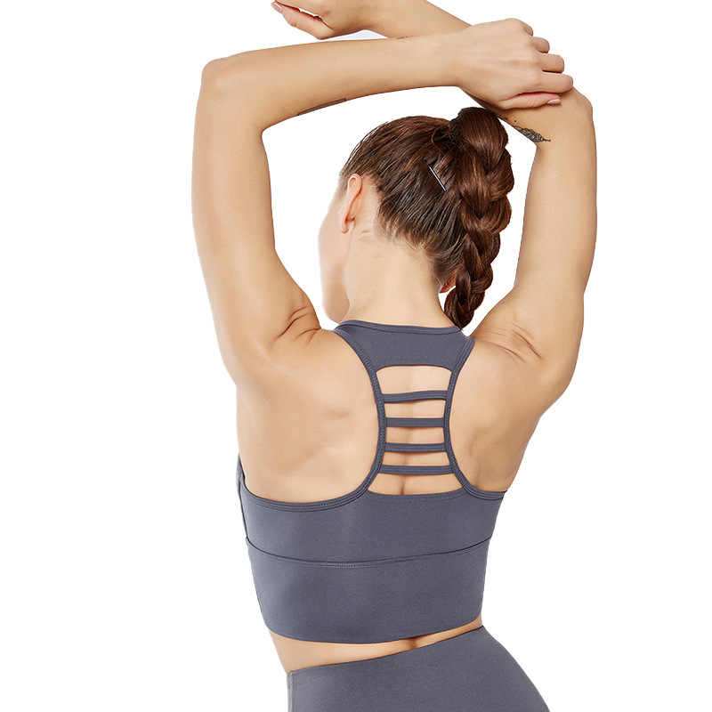 2019 Women Sports Bra Shockproof Fitness Sports Bras Seamless Padded Vest Tanks  Professional Absorb Sweat Top Female Bras Sport
