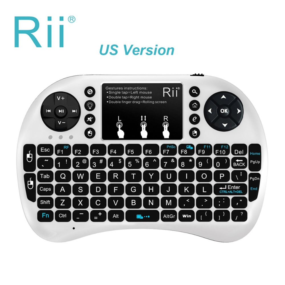 RII i8+ 2.4G Wireless Mini Touchpad mouse Backlit Keyboard for Google Android Tv Box Tvbox Pc Xbox 360 Ps3 Teclado Inalambrico
