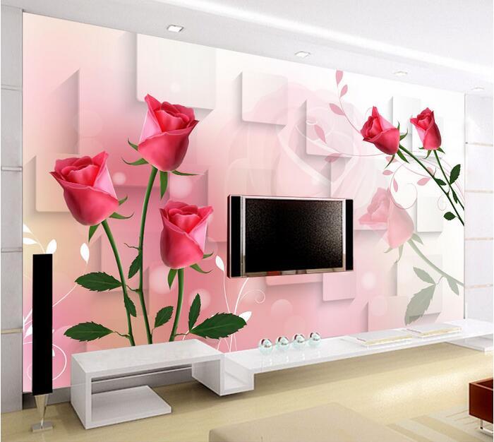 3d wallpaper custom mural non woven 3d room wallpaper 3 d TV setting ...