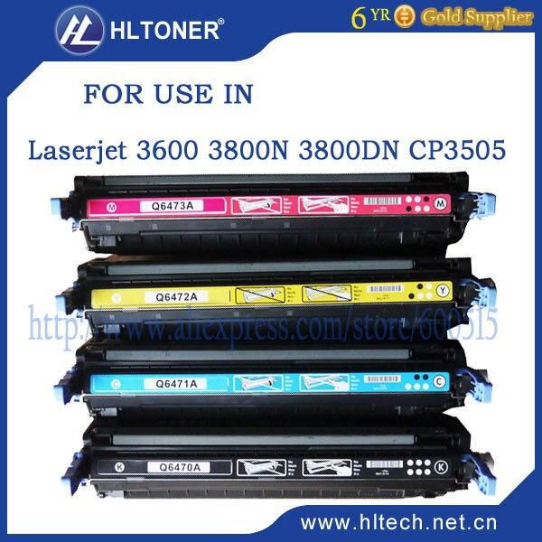 Q6470A Q6471A Q6472A Q6473A tonerkartusche kompatibel HP LaserJet 3600/3600n/3600dtn/3800/3800n/3800dtn/CP3505/3505n 4 teile/satz
