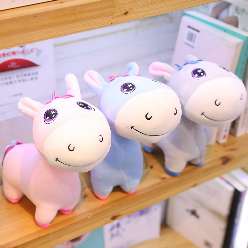 Hot 2019 1pc 25cm-60cm Small Cute Donkey Doll Plush Toy Soft Animal Stuffed Personal  Child Kid Girl Kawaii Birthday Gift