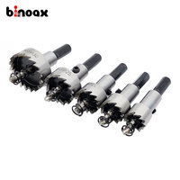 5pcs Carbide Tip HSS Drills Bit Hole Saw Set Stainless Steel Metal Alloy 16 18 5