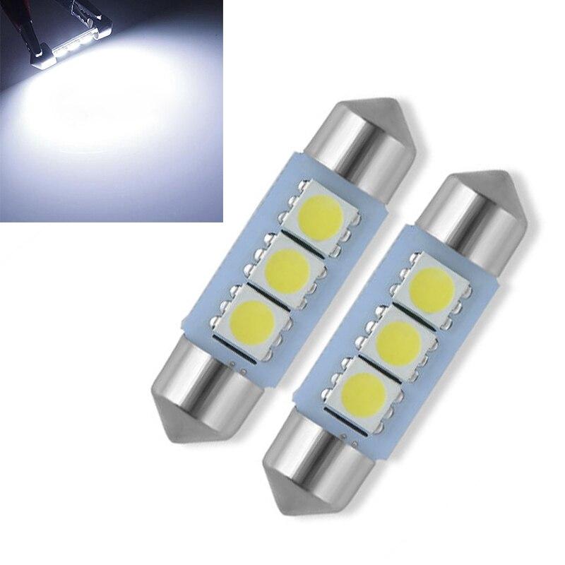 5 шт. Универсальный Белый 36 мм 5050 3SMD LED гирлянда салона автомобиля купольная лампа супер яркая лампа