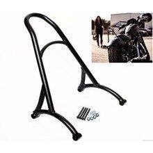 Черная мотоциклетная короткая пассажирская спинка для Harley Sportster XL Iron nighster 883 1200 48 2004- 16