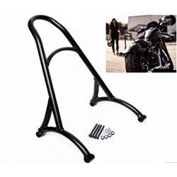 Черная мотоциклетная короткая пассажирская спинка для Harley Sportster XL Iron nighster 883 1200 48 2004-2017 16