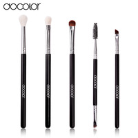 Docolor 5Pcs Set Professional Eye Makeup Brushes Set Top Goat And Synthetic Hair Cosmetics Face Eyeshadows
