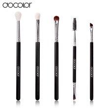Docolor 5Pcs/set Professional eye Makeup Brushes Set top goat and synthetic hair  Cosmetics  Face Eyeshadows Brush Kit pincel