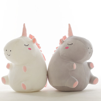 Hot 1pc 25cm unicorn plush toy fat unicorn doll cute animal stuffed soft pillow baby kids toys for girl birthday christmas gift stuffed toy