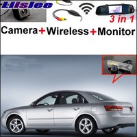 3 In1 Special Rear View Camera Wireless Receiver Mirror Monitor Easy DIY Parking System For Hyundai