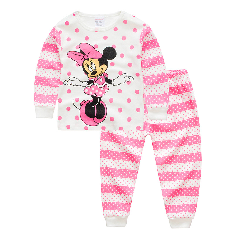 Jumpingbaby 2019 Kigurumi Minnie Pajamas Pijama Set Baby Girl Clothes Pyjamas Kids Pijamas Infantil Enfant Nightgown Cartoon Pjs