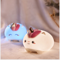 Silicone 3D Unicorn Night Light Atmosphere Touch Cute Colorful Changeable LED Lamp Children Playing Light For Bedroom