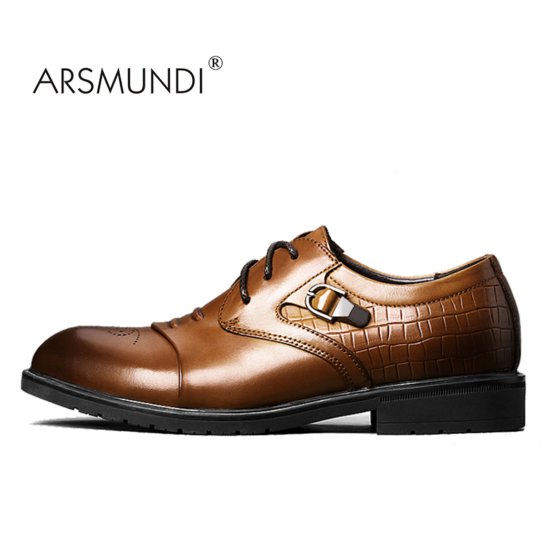 ARSMUNDI 2017 New Arrival BLM-1001 Mens Brand Men Shoes Genuine Leather Lace-up Men Casual Shoes Big Size Business Shoes Leisure 2017 new spring imported leather men s shoes white eather shoes breathable sneaker fashion men casual shoes