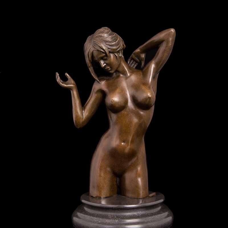 Bronze nude figurines