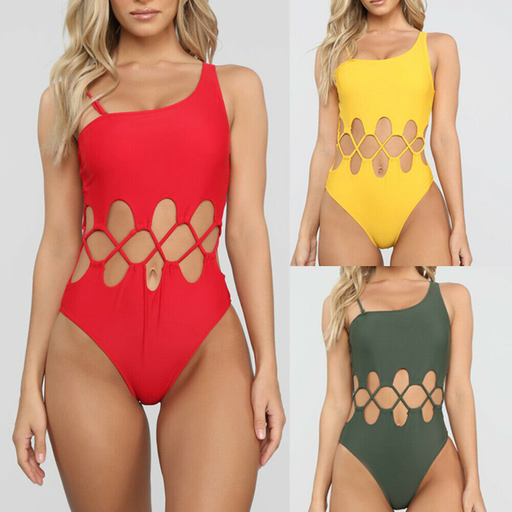 Women Bandage Padded Bikini Set Crochet Push-up Bra Swimsuit Bathing Suit Swimwear Beachwear