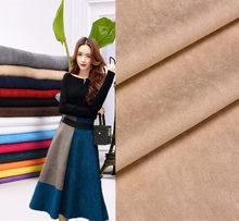 Pano de camurça falsa de poliéster, tecido têxtil de camurça falsa de 150cm * 50cm, tecido têxtil preto branco azul rosa vermelho tissus aulas material