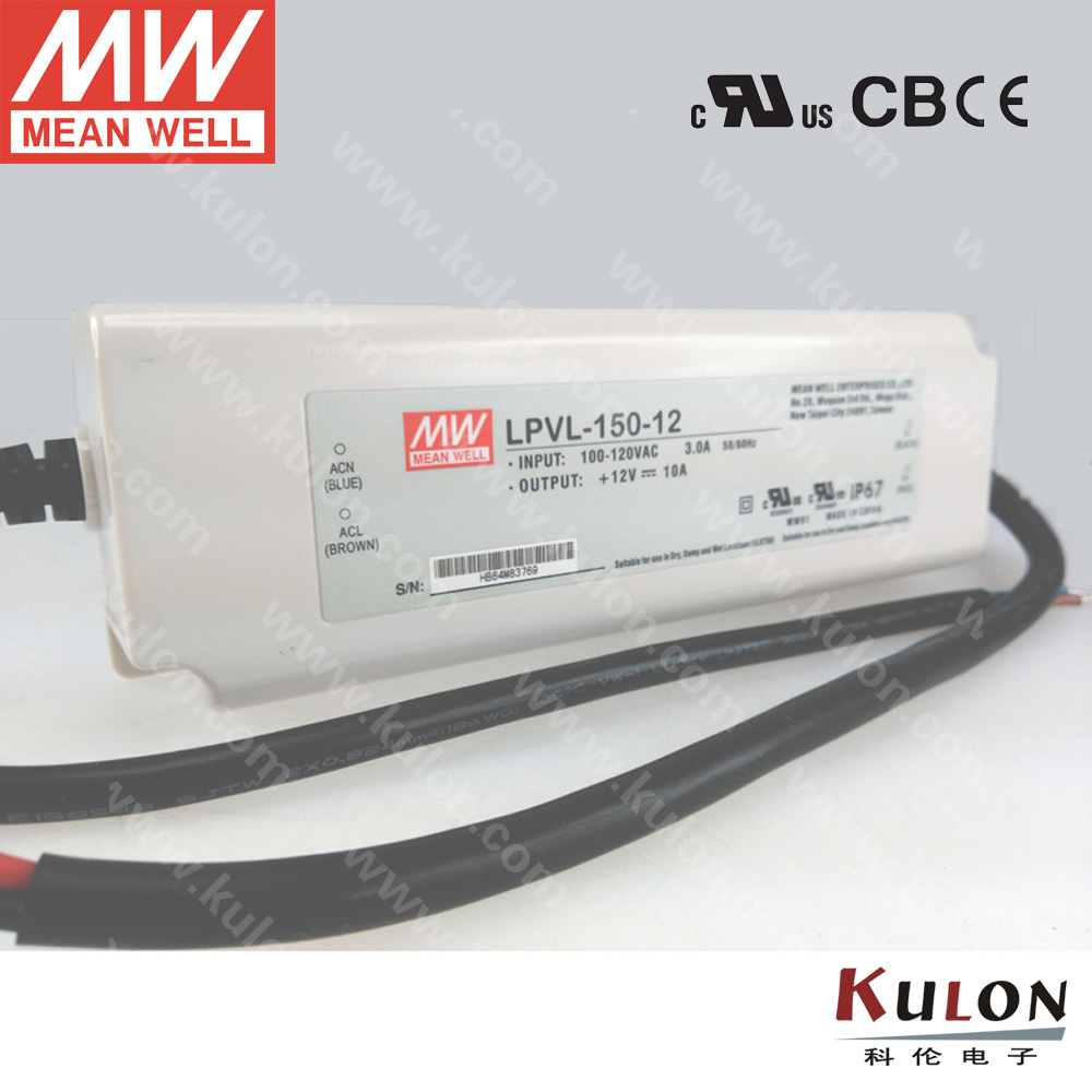 Original Meanwell 150W 24V Power Supply LPVL-150-24 for LED light IP67 UL FCC EMC 2 years warranty meanwell 24v 100w ul certificated clg series ip67 waterproof power supply 90 295vac to 24v dc