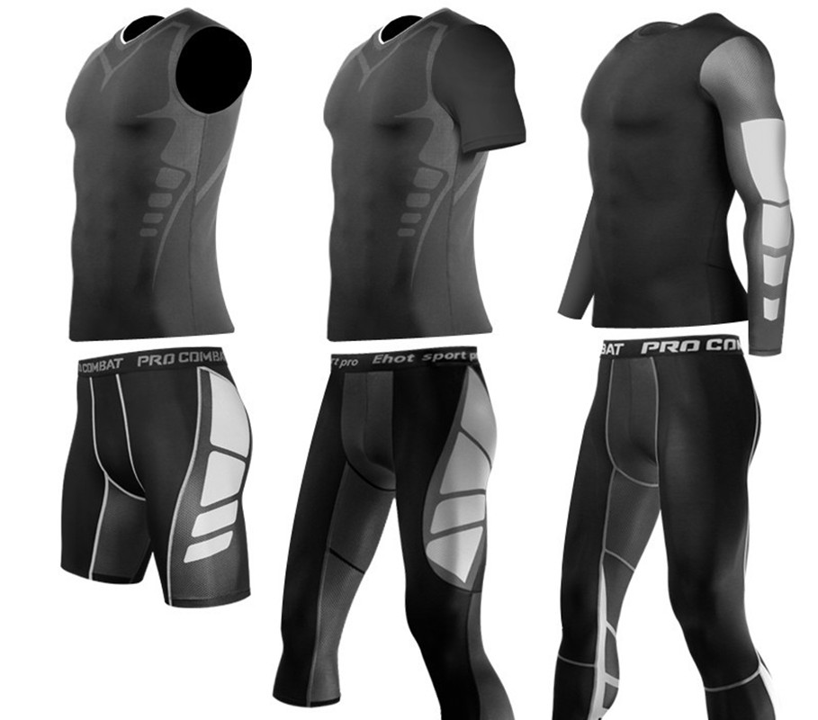 Mens Military Compression Pants Sports Base Layer Long Tights Gym AFL Take 5