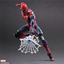 2017 Play Arts 28 cm Marvel Spiderman Super Hero Spider Man Avengers Figura de Ação DO PVC Brinquedos do Regresso A Casa(China)
