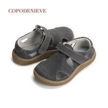 Copodenfaith sandales pour garçons, chaussures pour enfants, en cuir véritable, garçons et filles