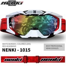 NENKI Motocross Offroad ATV Dirt Bike MX DH Goggle Männer Frauen Ski Snowboard Brille Motorrad Racing Brillen Austauschbare objektiv
