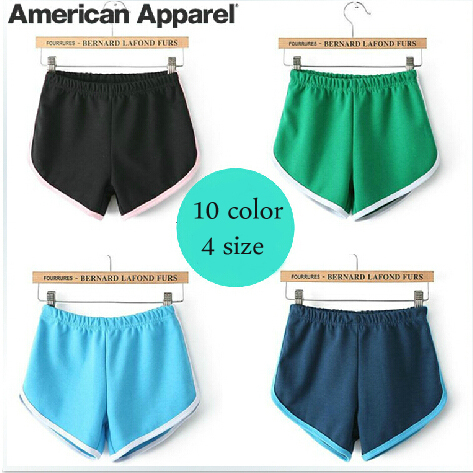 502390dc7f american apparel shorts aa casual for women hot sale vintage loose high  qualtiy cotton beach 10 colors 4 size