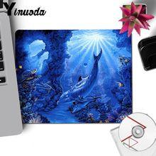 Yinuoda Dolphins under the sea Natural Rubber Gaming mouse pad Desk Mat LOL CS Computer Peripherals Keyboard Pad Home Gifts Mat