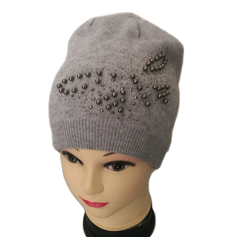 free shipping 2017 new fashion winter high quality acrylic hat knitted hat bonnet ladies casual cap for women ladies HSPL Winter Knitted Hats For Women 2017 New Ladies Fashion White Russia Stylish Beanie Hat Female High Quality Girl Bone Cap