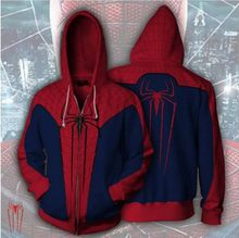 Superhero The Amazing Spiderman Red Spider Man 3D Print Coat Jacket Hoodies Sweatshirts Cosplay Hooded Casual(China)